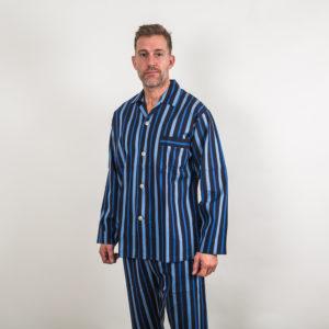 Regent stripe cotton pyjama - blue
