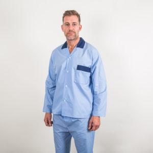 Poly/Cotton contrast pyjamas - blue